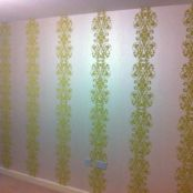 Example of domestic wallpapering work